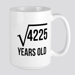 65 Years Old Square Root Mugs